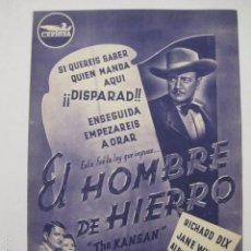 Cine: GUIA - HOMBRE DE HIERRO -(V-5832). Lote 57159414