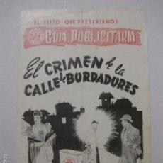 Cine: GUIA - EL CRIMEN DE LA CALLE DE BORDADORES-(V-5835). Lote 57159509