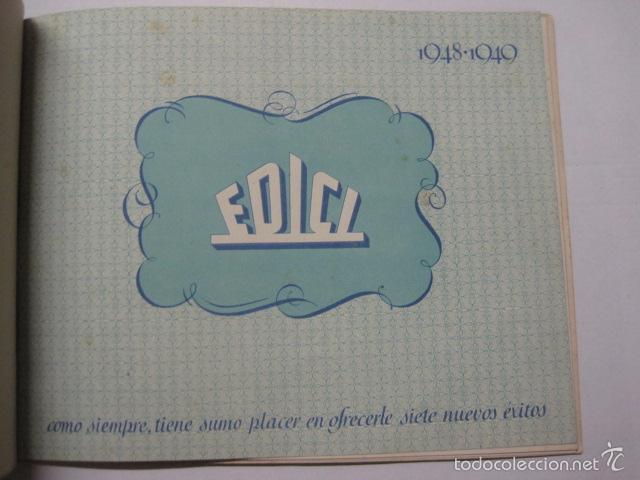 Cine: PROGRAMA PELICULAS EDICI - AÑOS 1948 -1949 - VER FOTOS -(V-5848) - Foto 2 - 57160102