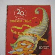 Cine: PROGRAMA PELICULAS - 20 TH CENTURY FOX - AÑOS 1949- 50 - VER FOTOS -(V-5850). Lote 57160166