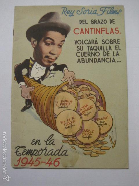 PROGRAMA PELICULAS - REY SORIA FILMS - AÑOS 1945- 46 - VER FOTOS -(V-5852) (Cine - Guías Publicitarias de Películas )