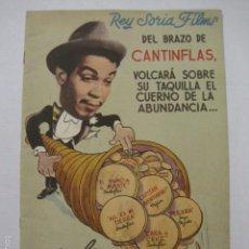 Cine: PROGRAMA PELICULAS - REY SORIA FILMS - AÑOS 1945- 46 - VER FOTOS -(V-5852). Lote 57160256