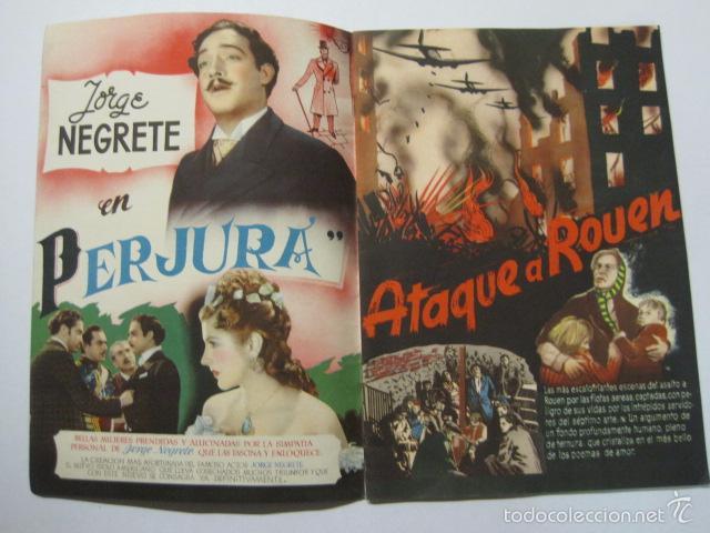 Cine: PROGRAMA PELICULAS - REY SORIA FILMS - AÑOS 1945- 46 - VER FOTOS -(V-5852) - Foto 3 - 57160256