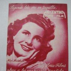 Cine: PROGRAMA PELICULAS - ARGENTINA SONO FILM - AÑOS 1948- 49 - VER FOTOS -(V-5853). Lote 57160304