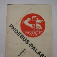 Cine: PROGRAMA PELICULAS - PHOEBUS FILM - AÑO 1927 -VER FOTOS -(V-5856). Lote 57160441