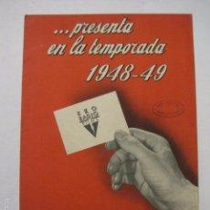 Cine: PROGRAMA PELICULAS - RKO FILMS - AÑO 1948- 49 -VER FOTOS -(V-5857). Lote 57160479