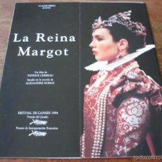 Cinéma: LA REINA MARGOT - ISABELLE ADJANI,DANIEL AUTEUIL,JEAN-HUGUES ANGLADE,VINCENT PÉREZ,MIGUEL BOSE GUIA. Lote 57177713