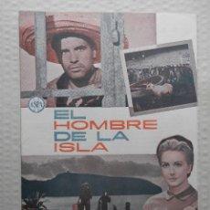 Cinéma: EL HOMBRE DE LA ISLA - GUIA 16 PAG. + PROGRAMA DE MANO ORIGINAL - VER FOTOS Y DESCRIPCION. Lote 57234290