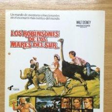 Cinéma: LOS ROBINSONES DE LOS MARES DEL SUR. Lote 113228416