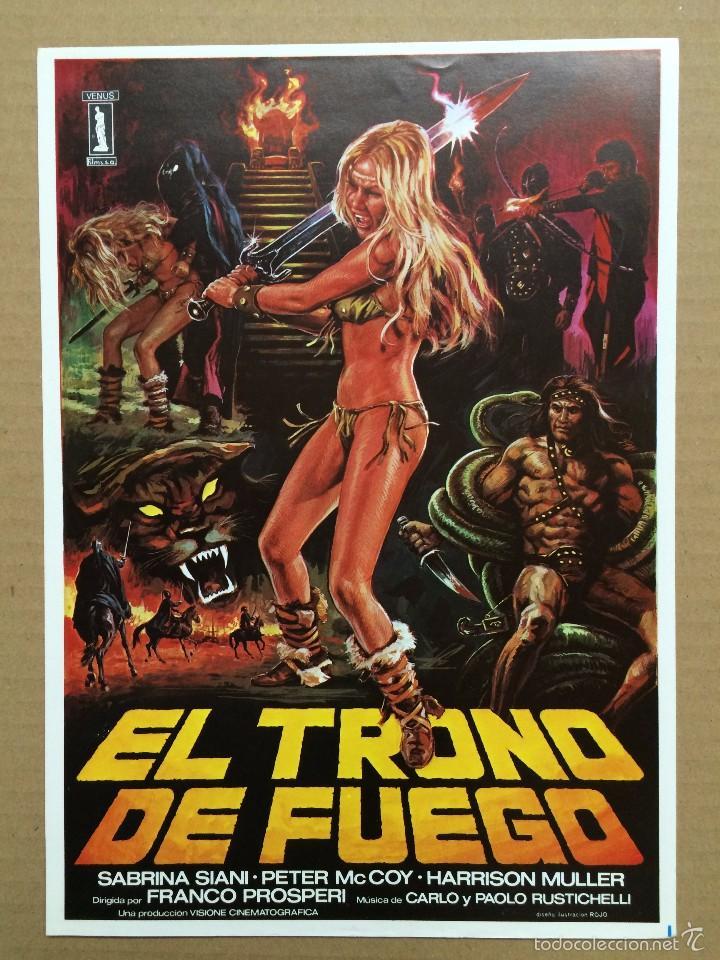 GUIA EL TRONO DE FUEGO .- SABRINA SIANI -PETER MC COY (Cine - Guías Publicitarias de Películas )