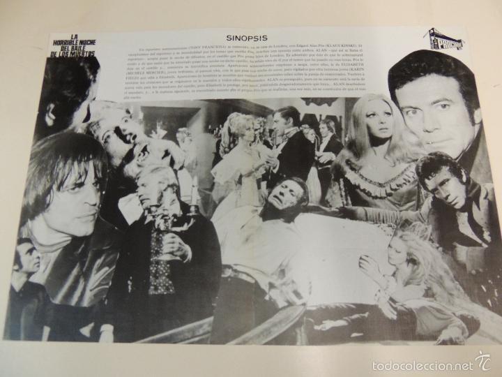Cine: la horrible noche del baile de los muertos - guia original estreno - anthony franciosa klaus kinski - Foto 2 - 57399417
