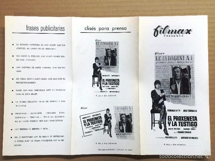 EL PROXENETA Y LA TESTIGO - MONICA VITTI - GUIA PUBLICITARIA ORIGINAL DEL ESTRENO (Cine - Guías Publicitarias de Películas )