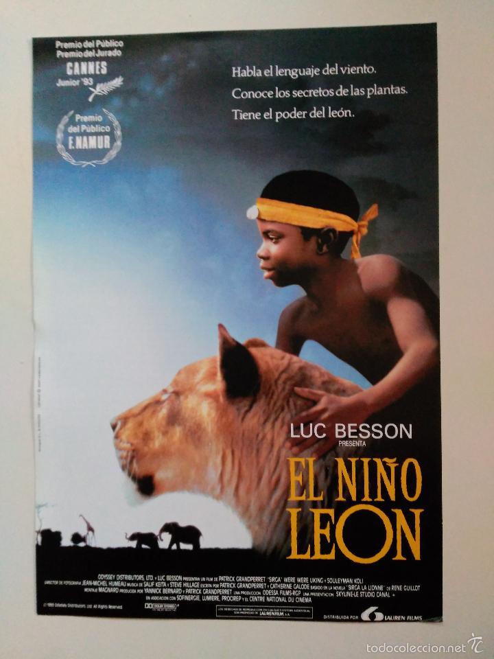 EL NIÑO LEON. SIRGA. LUC BESON, WERE WERE LIKING Y SOULEYMAN KOLI. CANNES 1993 (Cine - Guías Publicitarias de Películas )