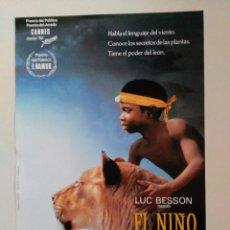 Cine: EL NIÑO LEON. SIRGA. LUC BESON, WERE WERE LIKING Y SOULEYMAN KOLI. CANNES 1993 . Lote 57835774