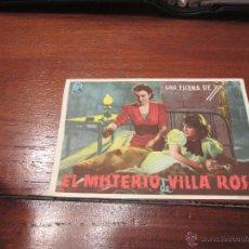 Cine: EL MISTERIO DE VILLA ROSA PROGRAMA SENCILLO EXCELSA JUDY KELLY. Lote 57864228