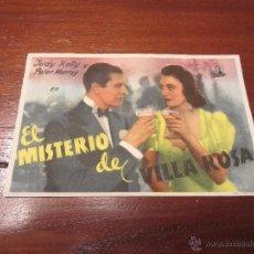 Cine: EL MISTERIO DE VILLA ROSA PROGRAMA SENCILLO EXCELSA JUDY KELLY. Lote 57864252