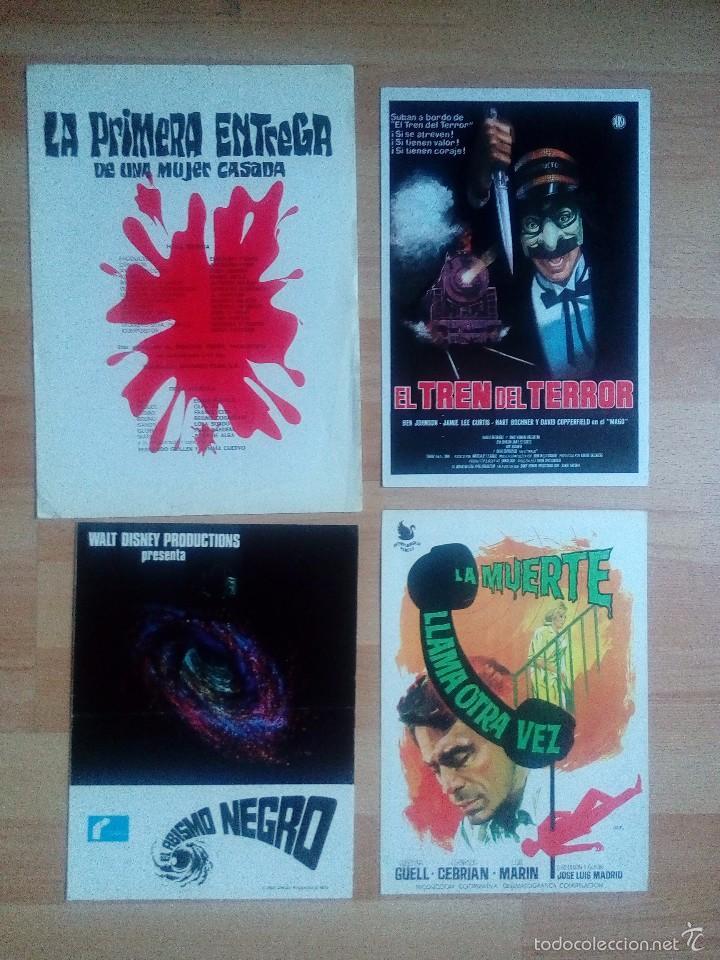 L1- 4 GUIAS DOBLES DE CINE DE TERROR (Cine - Guías Publicitarias de Películas )