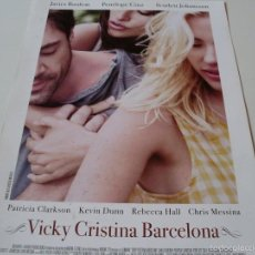 Cine: VICKY CRISTINA BARCELONA - JAVIER BARDEM, SCARLETT JOHANSSON, PENELOPE CRUZ -DIR. WOODY ALLEN - GUIA. Lote 58395381