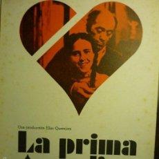 Cine: GUIA DOBLE LA PRIMA ANGELICA - J.L.LOPEZ VAZQUEZ. Lote 58430884