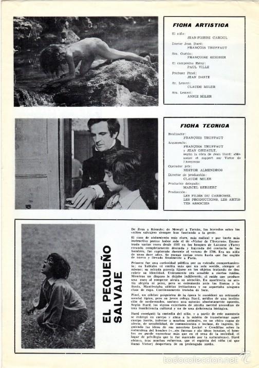 Cine: EL PEQUEÑO SALVAJE. (Francois Truffaut, 1970) GUÍA PUBLICITARIA - Foto 2 - 58433711