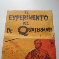 Cine: EL EXPERIMENTO DEL DR QUATERMASS - GUIA PUBLICITARIA R FILMS 1950S // SCI FI PSYCHOTRONIC HAMMER. Lote 58790526