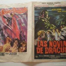 Cine: LAS NOVIAS DE DRACULA - LISTA DE MATERIAL EXHIBIDOR CINE 1961 // HORROR HAMMER TERENCE FISHER. Lote 58790841