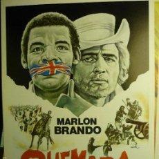 Cine: GUIA QUEMADA-MARLON BRANDO. Lote 59031555