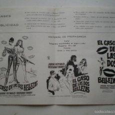 Cine: JESUS FRANCO - EL CASO DE LAS 2 BELLEZAS -GUIA PUBLICITARIA ROSA FILMS 1968 // PSYCHOTRONIC JESS. Lote 59451290