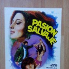 Cine: L1-GUIA SIMPLE DE LA PELICULA--PASION SALVAJE. Lote 61416035