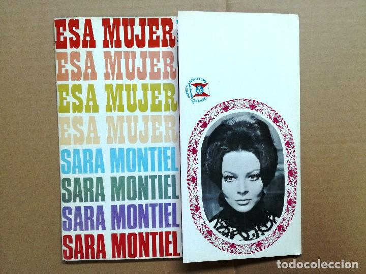 Cine: SARA MONTIEL GUIA PUBLICITARIA DEL FILM ESA MUJER 6 HOJAS - Foto 2 - 61917556