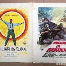 Cine: INVASION EN BIRMANIA Y UN LUNAR EN EL SOL.GUIA ORIGINAL. Lote 62008580