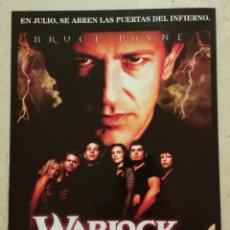 Cine: GUIA ORIGINAL -A4- WARLOCK THE NEW GENERATION - TERROR - BRUJOS. Lote 62014008