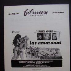 Cine: GUIA PUBLICITARIA DE LA PELICULA LAS AMAZONAS, LUCIANNA PALUZZI. Lote 164797394