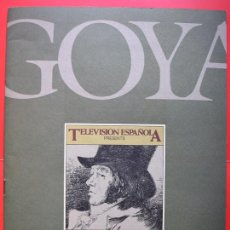 Cine: GOYA 1746–1828, SERIE PARA TV (1984) - FOLLETO PROMOCIONAL EN INGLÉS. Lote 62278388