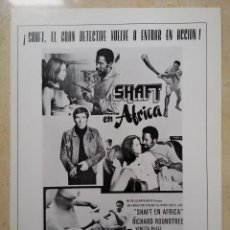 Cine: ANUNCIO EN PRENSA 70S - SHAFT EN AFRICA - BLAXPLOITATION - RICHARD ROUNDTREE. Lote 269318623