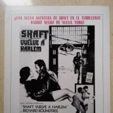 Cinéma: LAMINA PUBLICIDAD ORIGINAL AÑOS 70 - A4 - SHAFT VUELVE A HARLEM - BLAXPLOITATION - RICHARD ROUNDTREE. Lote 62296660