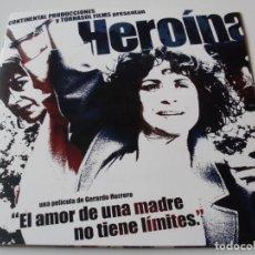 Cine: HEROINA - ADRIANA OZORES, JAVIER PEREIRA - DIR. GERARDO HERRERO GUIA LUJO (CONTIENE CD). Lote 62817172