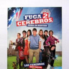 Cine: FUGA DE CEREBROS 2. GUÍA DOBLE ORIGINAL DE LA PELÍCULA. Lote 62819300