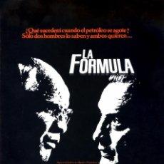 Cine: LA FORMULA (GUÍA ORIGINAL DOBLE CON FOTOS) MARLON BRANDO. Lote 63208564