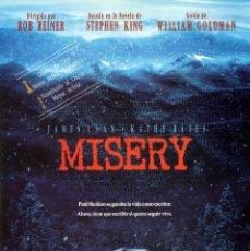 Cine: MISERY (GUÍA ORIGINAL SIMPLE CON FOTOS) TERROR STEPHEN KING. Lote 235883300