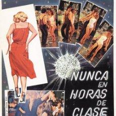 Cine: NUNCA EN HORAS DE CLASE - INMA DE SANTIS, NADIA WINDELL, CARLOS BALLESTEROS (1978). Lote 63789911