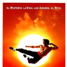 Cine: DRAGON LA VIDA DE BRUCE LEE (GUÍA ORIGINAL DOBLE CON FOTOS DE SU ESTRENO EN ESPAÑA). Lote 209608890