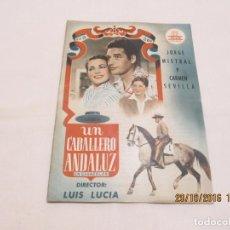 Cinema: UN CABALLERO ANDALUZ - JORGE MISTRAL - CIFESA. Lote 64132687
