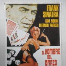 Cinema: EL HOMBRE DEL BRAZO DE ORO - GUIA SENCILLA - KIM NOVAK - VER FOTOS Y DESCRIPCION. Lote 64176479