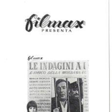 Cine: G7138 EL PROXENETA Y LA TESTIGO UGO TOGNAZZI MONICA VITTI GUIA ORIGINAL FILMAX ESTRENO. Lote 64701831