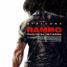 Cine: JOHN RAMBO VUELTA AL INFIERNO (GUÍA ORIGINAL SIMPLE DE SU ESTRENO EN ESPAÑA). Lote 64837467