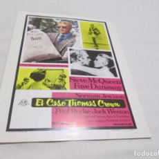 Cine: EL CASO THOMAS CROWN - STEVE MCQUEEN - CB FILMS. Lote 64839195