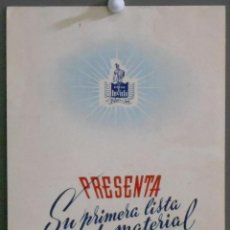 Cine: G7193 FILMS INVICTA 1ª LISTA DE MATERIAL ORIGINAL TEMPORADA 1945 - 1946. Lote 64989619