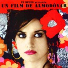Cine: VOLVER (GUÍA ORIGINAL SIMPLE CON FOTOS DE SU ESTRENO ) PENÉLOPE CRUZ - DIRECTOR PEDRO ALMODÓVAR. Lote 65914710