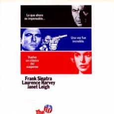 Cine: EL MENSAJERO DEL MIEDO (GUÍA ORIGINAL SIMPLE) FRANK SINATRA - JANET LEIGH - LAURENCE HARVEY. Lote 65927594